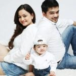 Muskaan Mihani with her husband and daughter
