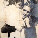 Natasha Rastogi (Childhood) with her father Triloki Nath Khanna