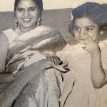 Natasha Rastogi (Childhood) with her mother Rachna Khanna