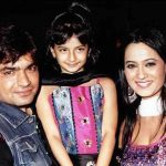 Palak Tiwari childhood photo with her father Raja Chaudhary (Biological) and mother Shweta Tiwari
