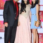 Palak Tiwari with her step-father Abhinav Kohli and mother Shweta Tiwari