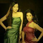 Amrita Rao with her sister Preetika Rao