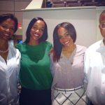 Rachel Lindsay with her parents and sister Heather
