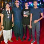 Rakeysh Omprakash Mehra with his wife and children