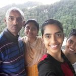 Raksha Gopal with her family