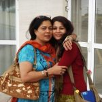 Reema Lagoo with her daughter