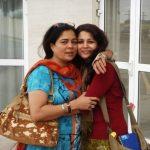 Mrunmayee Lagoo with her mother Reema Lagoo