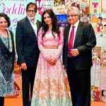 Sakshi Salve with her parents and Amitabh Bachchan