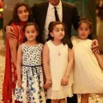 Shan Shahid with his four daughters
