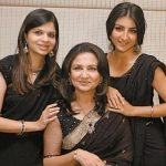 Sharmila with her daughters