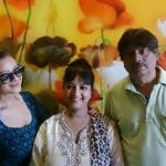 Sheela Sharma with her husband and daughter