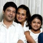 Shilpa Shirodkar with her husband Aparesh Ranjit and daughter Anoushka Ranjit