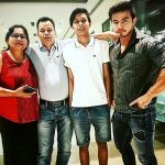 Shreedhan Singh with his family