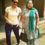 Shruti Rawat with her mother