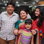 Supriya Shukla with her husband and daughters