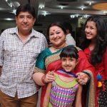 Supriya Shukla with her husband and daughters