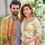 Farhan Saeed with his wife
