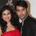 Vahbiz with her husband Vivian Dsena