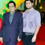 Manoj Kumar with his son Vishal Goswami