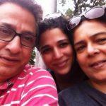 Vivek Lagoo with Reema Lagoo and their daugher Mrunmayee Lagoo