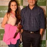 Vivek Mushran with his wife