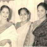 Waheeda Rehman With Her Mother and Sister Sayeeda Rehman