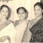 Waheeda Rehman With Her Mother and Sister Sayeeda Rehman