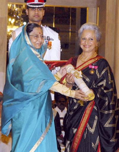 Waheeda Rehman Receiving Padma Bhushan