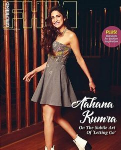Aahana Kumra on the cover of the FHM Magazine