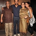 Abhishek Kapoor with his parents and wife