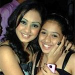 Abigail Jain with her sister
