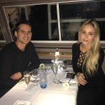 Alex Hales with his girlfriend