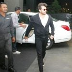 Anil Kapoor Coming Out Of His W222 Mercedes Benz S-Class Car