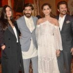 Anil Kapoor With His Children- Rhea, Harshvardhan, Sonam (Left To Right)