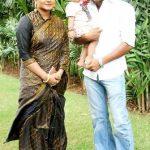 Anjana Singh with her husband Yash Kumar Mishra and daughter Aditi