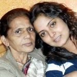 Anjana Singh with her mother