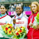 Anju Bobby George 2003 bronze medalist in Paris
