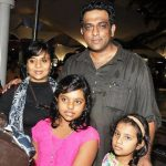 Anurag Basu with his wife and daughters