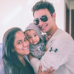 Arpita Khan with her husband & son
