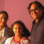 Asha Bhosle with her son Hemant and grandchild