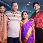 B Sai Praneeth with his parents