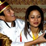 Baichung Bhutia and wife Madhuri Tipnis