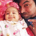 Chandan Prabhakar with his daughter