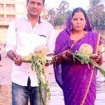Damodar Raao with his wife
