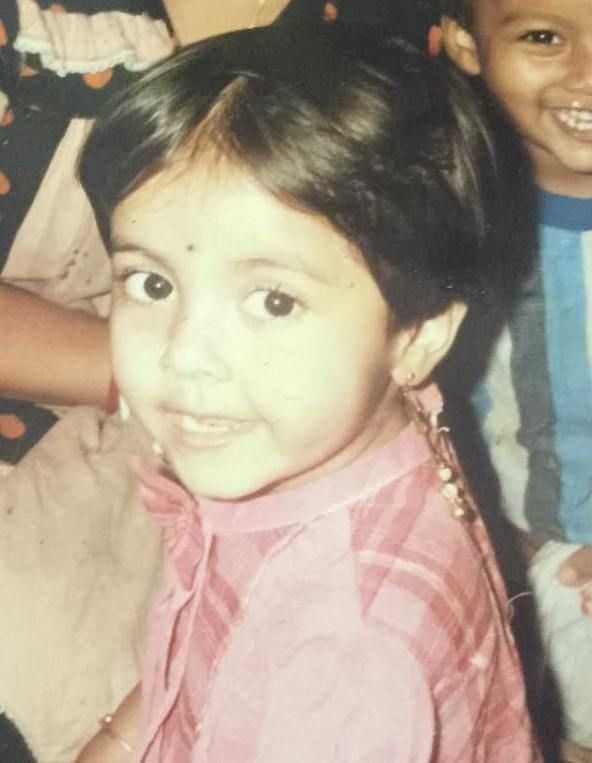 Devoleena Bhattacharjee's childhood picture