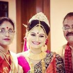 Dimpy Ganguli with her parents