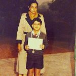 Gautam Rode childhood pic receiving First prize in 100 mtr race.
