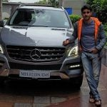 Gautam Rode with his car