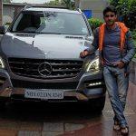 Gautam Rode with his car