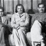 Harivansh Rai Bachchan (left) with Sumitranandan Pant (Center) and Ramdhari Singh Dinkar (right)